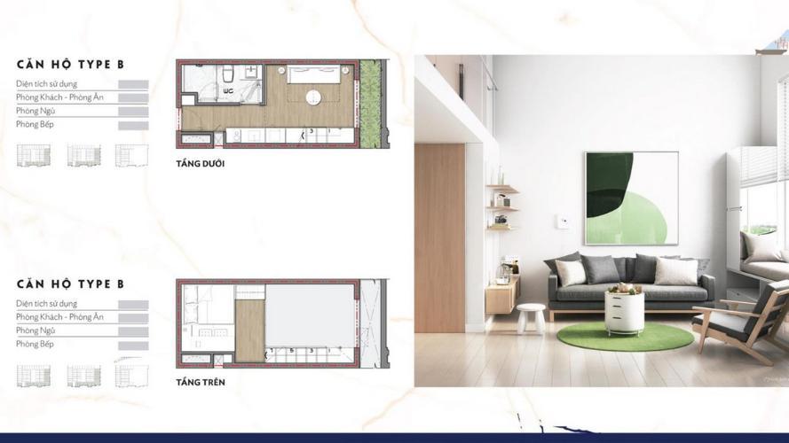 Căn hộ chung cư 9X Bình Tân thiết kế sang trọng, 1 phòng ngủ.