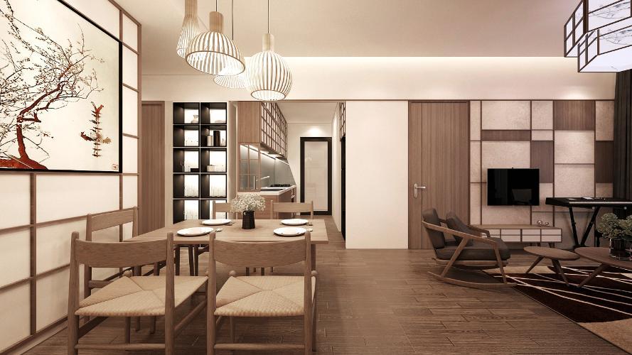 Căn hộ mẫu Akari City Căn hộ 3 phòng ngủ Akari City tầng trung, view mát mẻ.