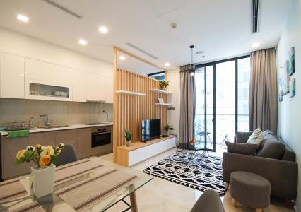 Cho thuê căn hộ Vinhomes Golden River 1PN, tầng cao, đầy đủ nội thất, view sông thoáng mát