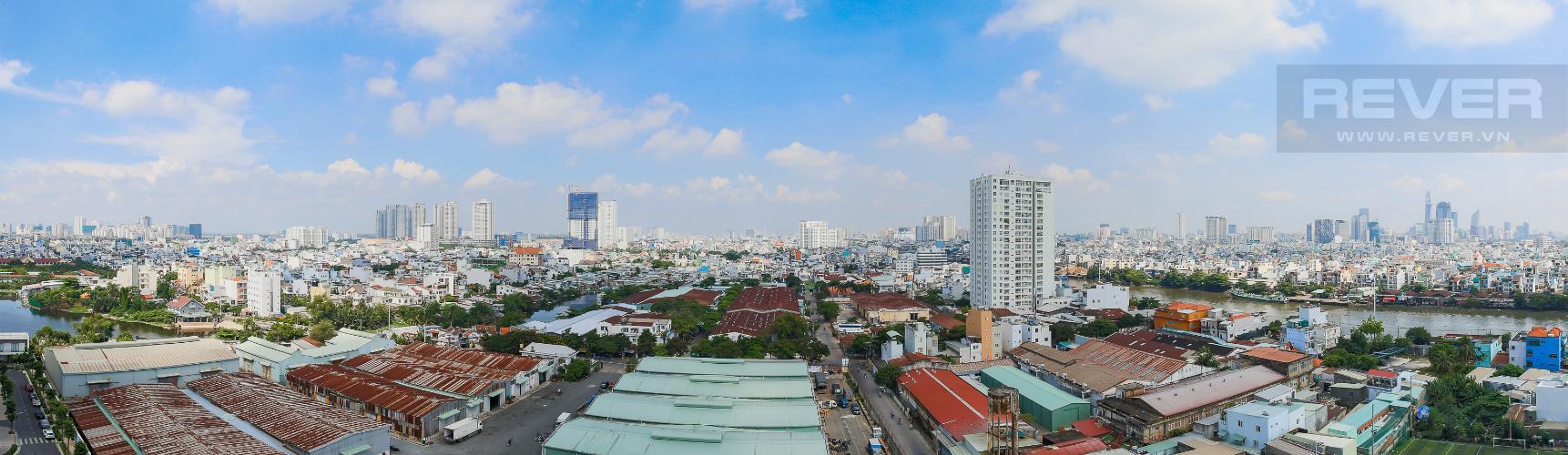 View Phòng Khách Căn hộ M-One Nam Sài Gòn 3 phòng ngủ tầng trung T1 nội thất đầy đủ
