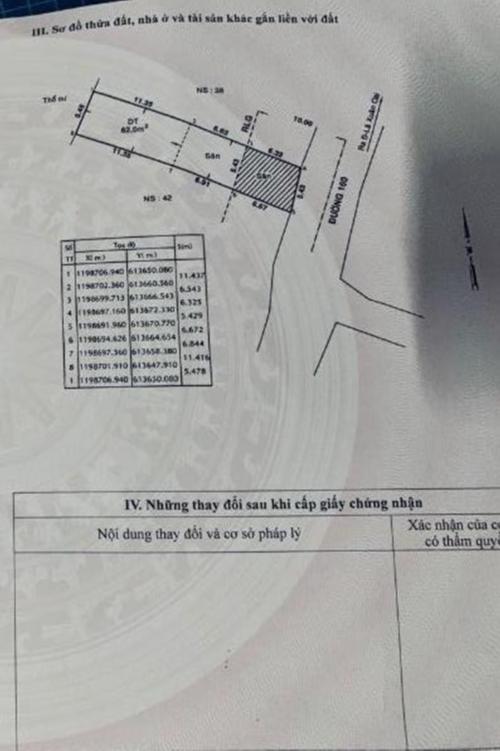 Hình trang sổ hồng trang bản vẽ nhà phường Tăng Nhơn Phú A, quận 9 Nhà cấp 4 sổ hồng chính chủ - đường số 160, Phường Tăng Nhơn Phú A