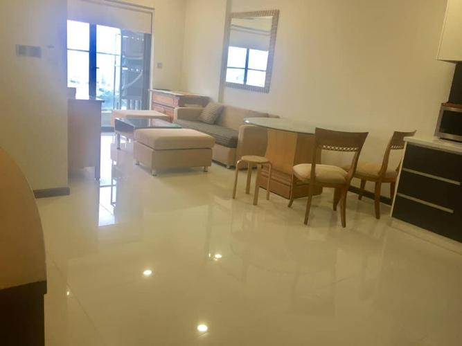 Phòng khách căn hộ DE CAPELLA Cho thuê căn hộ De Capella 2PN, block B, diện tích 80m2, đầy đủ nội thất, hướng ban công Đông Bắc