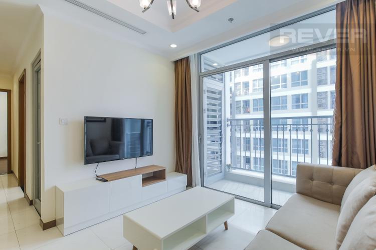 Phòng Khách Cho thuê căn hộ Vinhomes Central Park 2PN tầng trung, diện tích 71m2, đầy đủ nội thất