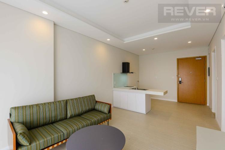 Phòng Khách Cho thuê căn hộ Diamond Island - Đảo Kim Cương 1PN, tầng thấp, đầy đủ nội thất, view trực diện sông