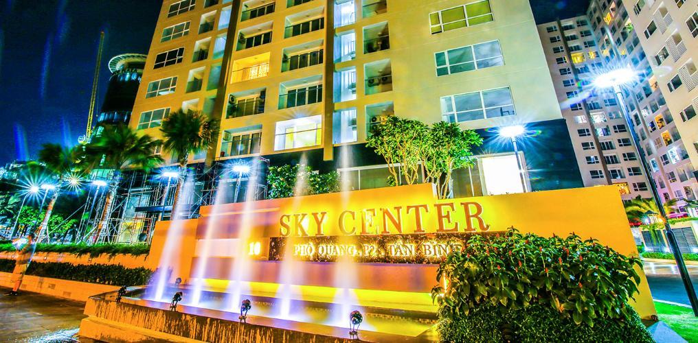 Sky Center, Tân Bình Office-tel chung cư Sky Center view nội khu hồ bơi, hướng Tây Nam.