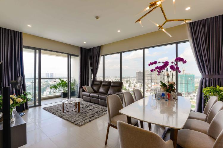 Phòng Khách Bán căn hộ Diamond Island - Đảo Kim Cương 3PN, tầng cao, đầy đủ nội thất, view sông đón gió