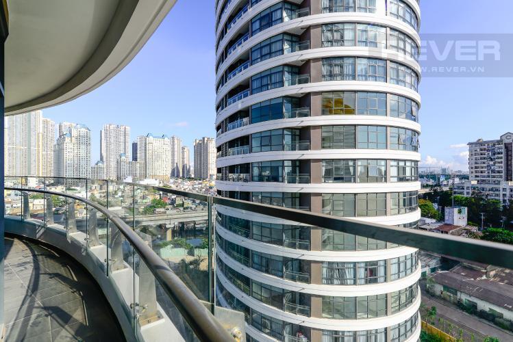 View Balcony Cho thuê căn hộ City Garden 2PN 2WC, đầy đủ nội thất, view sông