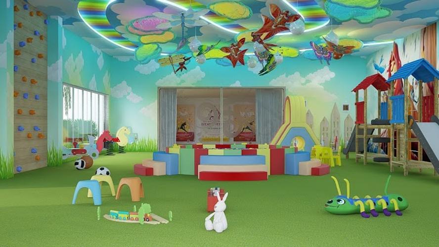 Khu vui chơi trẻ em The Gold View Căn hộ The Gold View tháp A tầng cao 2 phòng ngủ nội thất đầy đủ.