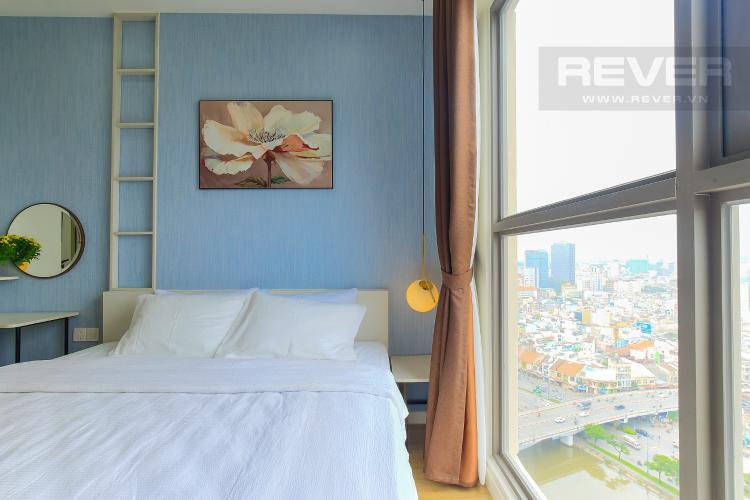 Phòng Ngủ 1 Cho thuê căn hộ Masteri Millennium tầng cao 2PN đầy đủ nội thất view sông