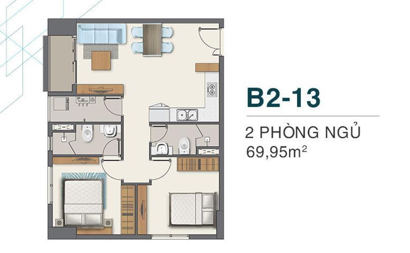 Căn hộ Q7 Boulevard nội thất cơ bản, view thoáng mát.
