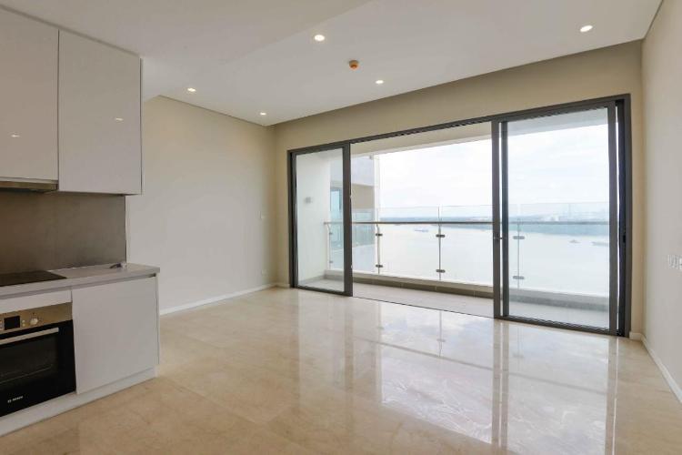 Phòng khách Diamond Island Quận 2  Căn hộ view sông Đảo Kim Cương tầng cao, nội thất cơ bản.