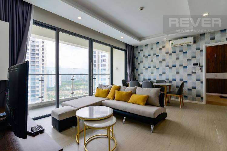 Phòng Khách Cho thuê căn hộ Diamond Island - Đảo Kim Cương 2PN, đầy đủ nội thất, view hồ bơi
