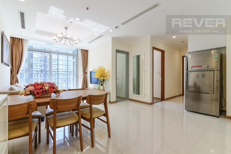 Phòng Khách Cho thuê căn hộ Vinhomes Central Park 2PN 2WC, nội thất cơ bản, view sông