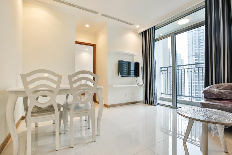 Phòng Khách Căn hộ OfficeTel 1 phòng ngủ Vinhomes Central Park view sông