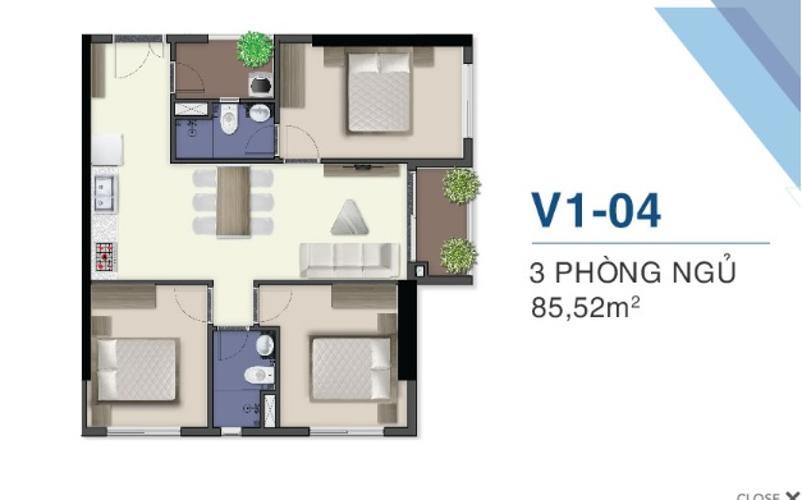 Bán căn hộ tầng cao Q7 Saigon Riverside 3 phòng ngủ, view sông Sài Gòn
