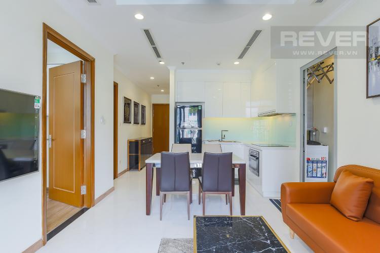 Phòng Khách Bán căn hộ Officetel Vinhomes Central Park 2 phòng ngủ tầng thấp tháp Landmark 3, đầy đủ nội thất cao cấp