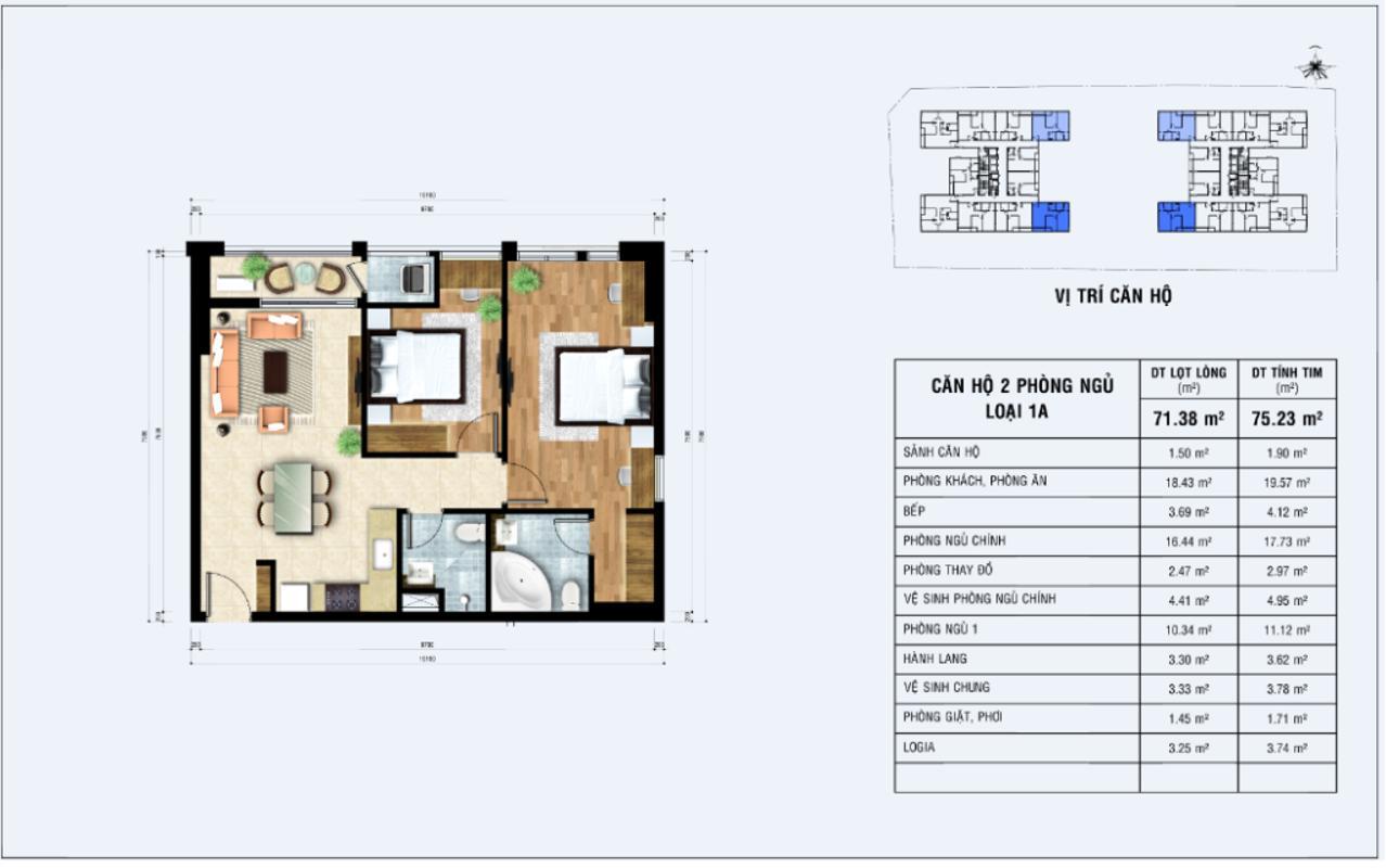 2pn-1024x641 Bán căn hộ Jamona Heights 2PN, diện tích 76m2, nội thất cơ bản, hướng Nam, view cầu Phú Mỹ