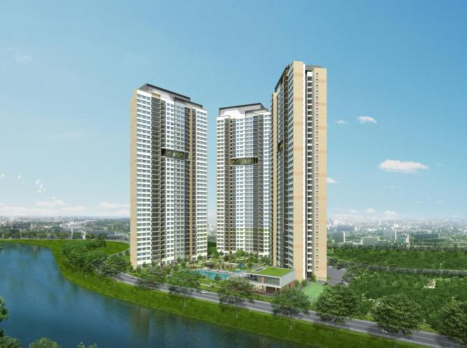 Palm City - Phối cảnh khu tòa nhà cao tầng Palm Heights - Palm City