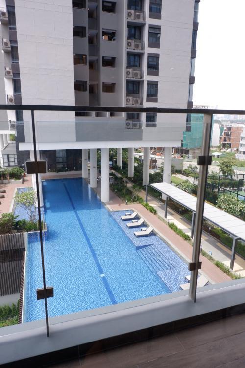 VIEW NỘI KHU căn hộ One Verandah Căn hộ One Verandah đầy đủ nội thất, view thành phố và sông thoáng mát