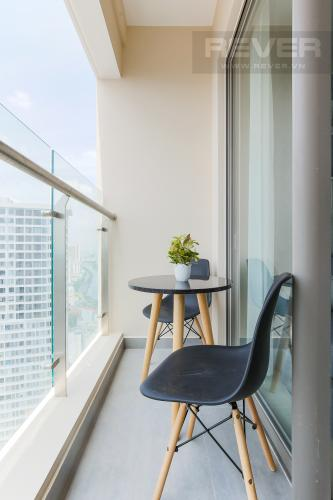 Balcony Cho thuê căn hộ Masteri Millennium tầng cao, 2PN, đầy đủ nội thất