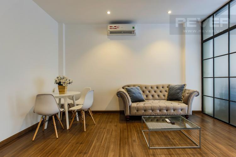 Phòng Khách Căn hộ dịch vụ 2 phòng ngủ đường Cao Thắng trang bị nội thất hiện đại