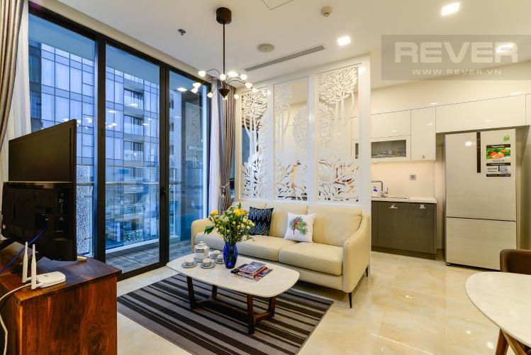 Phòng Khách Cho thuê căn hộ Vinhomes Golden River 2PN đầy đủ nội thất, view sông Sài Gòn