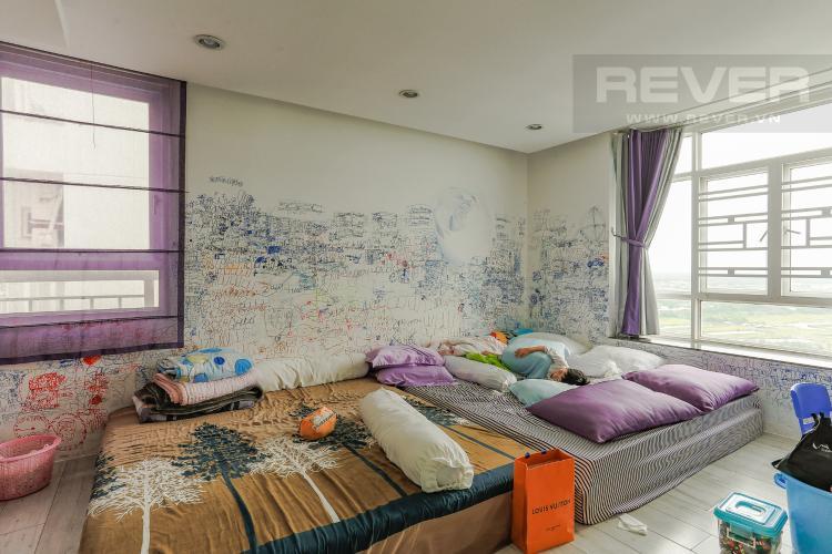 Phòng Ngủ 1 Căn hộ Duplex New Sài Gòn tầng cao tháp D1, 4 phòng ngủ, full nội thất