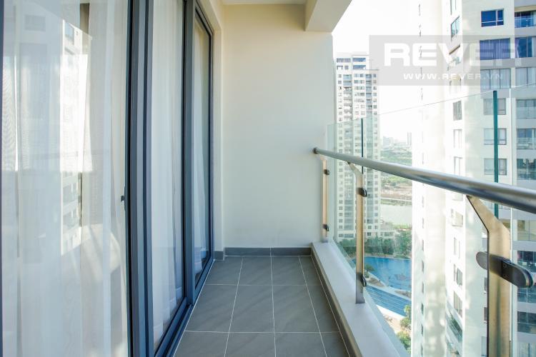 Ban Công Bán hoặc cho thuê căn hộ Đảo Kim Cương 3PN tầng cao tháp Maldives, đầy đủ nội thất, view sông và Bitexco