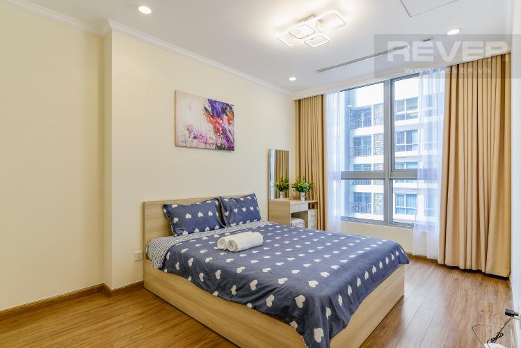 Phòng Ngủ Căn hộ Vinhomes Central Park 1 phòng ngủ tầng cao L4 nội thất đầy đủ