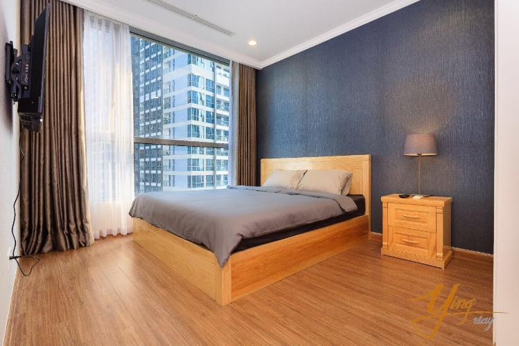 phòng ngủ căn hộ Vinhomes Central Park Căn hộ Vinhomes Central Park, 3 phòng ngủ đầy đủ nội thất.