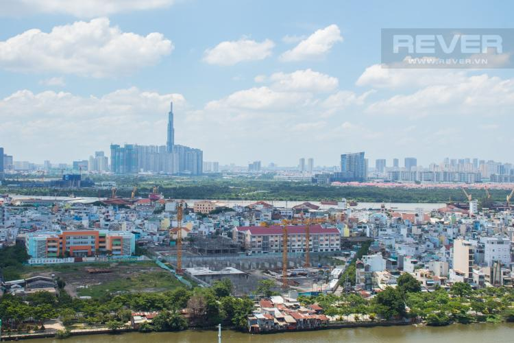 View Ban Công Bán căn hộ M-One Nam Sài Gòn 2PN, tầng cao, nội thất cơ bản, view sông và Landmark 81
