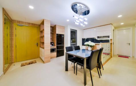 Căn góc Masteri Thảo Điền 3 phòng ngủ tầng trung T5 đầy đủ nội thất