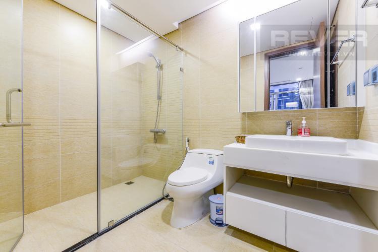 Phòng tắm 1 Cho thuê căn hộ Vinhomes Central Park tầng cao, 2PN đầy đủ nội thất view sông