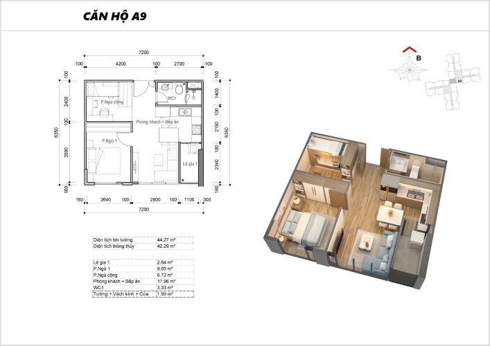 Căn hộ Eco Green Saigon nội thất cơ bản, thiết kế hiện đại.