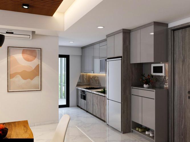 Nhà bếp Bán căn hộ 2 phòng ngủ Happy Residence tầng thấp, diện tích 69.18m2, thiết kế hiện đại, nội thất cơ bản.
