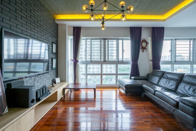 Căn hộ Happy Valley tầng thấp 3 phòng ngủ thiết kế đẹp, tiện nghi