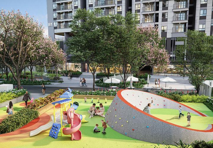 Tiện ích công viên Căn hộ Opal Boulevard hướng cửa Tây Nam, ban công Đông Bắc.