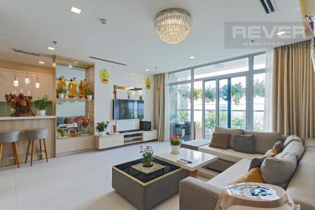 Bán căn hộ Vinhomes Central Park 4PN, tháp Landmark 81, đầy đủ nội thất, view công viên và sông Sài Gòn
