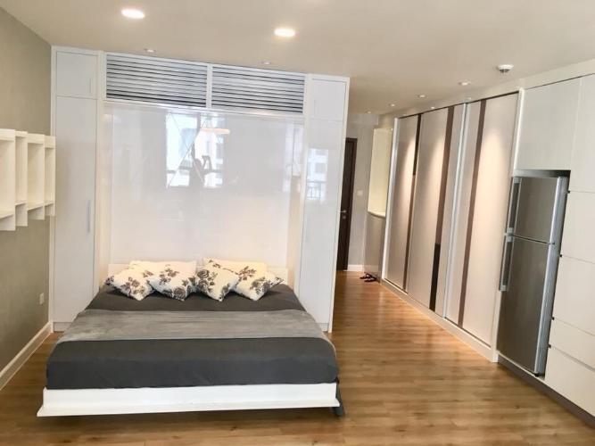 Phòng ngủ Icon 56, Quận 4 Căn hộ Icon 56 tầng trung, ban công đón view thoáng mát.