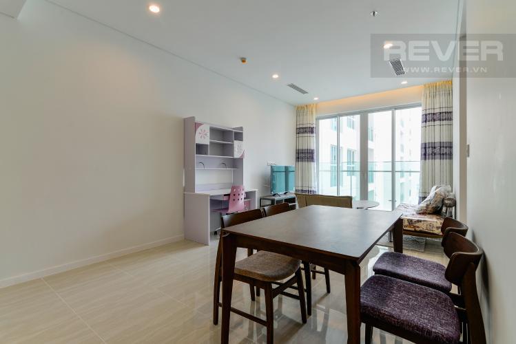 Phòng  Khách Cho thuê căn hộ Sadora Apartment hướng Đông Bắc 2PN 2WC, view hồ bơi, nội thất cao cấp
