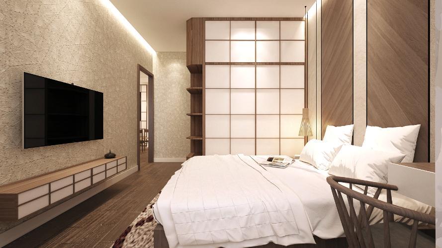 Nhà mẫu Akari City Căn hộ tầng trung Akari City bàn giao nội thất cơ bản.