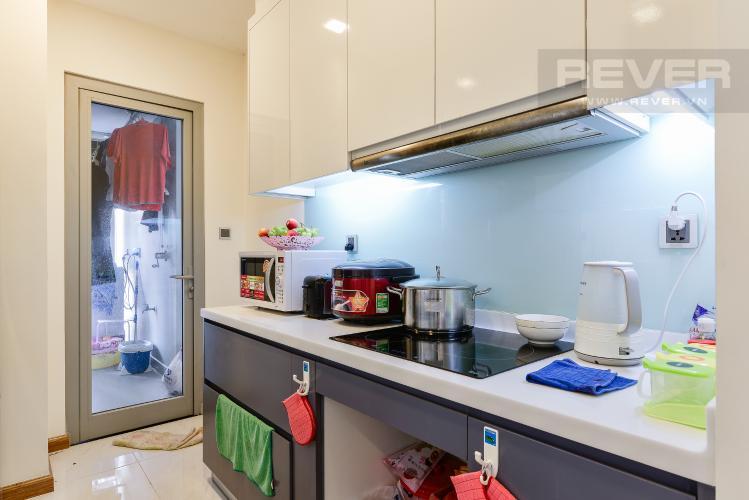 Nhà bếp Căn hộ Vinhomes Central Park tầng thấp P6, 3 phòng ngủ, nội thất đầy đủ