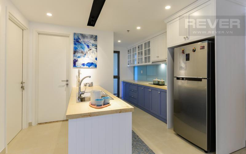 Phòng bếp Căn hộ Masteri Thảo Điền tầng cao tháp T4A view sông thoáng mát