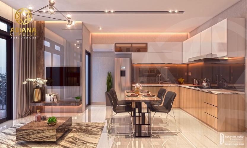 Phòng bếp căn hộ Asiana Capella, Quận 6 Căn hộ Asiana Capella hướng cửa chính Tây Bắc, nội thất cơ bản.