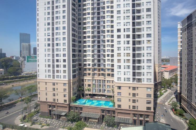 Icon 56, Quận 4 Căn hộ Icon 56 tầng cao, ban công hướng Tây Bắc view thoáng mát.