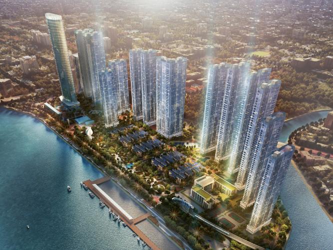 building căn hộ vinhome golden river Căn hộ tầng cao Vinhomes Golden River hướng Đông, thoáng mát.