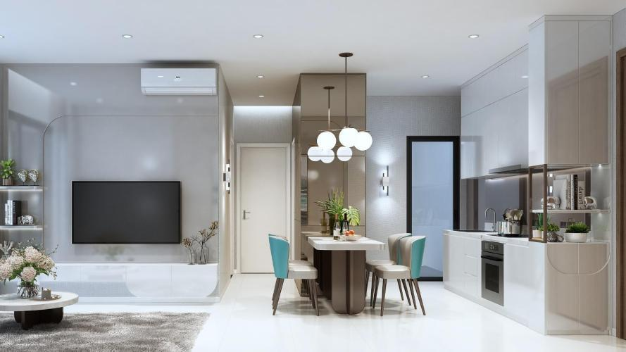 hình ảnh nhà mẫu căn hộ D'lusso quận 2 Căn hộ tầng trung D'Lusso phòng khách đón sáng thoáng mát.