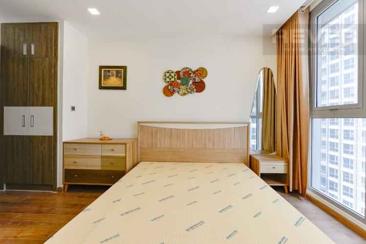 phòng ngủ 1 Căn góc Vinhomes Central Park tầng trung Park 2 đầy đủ nội thất