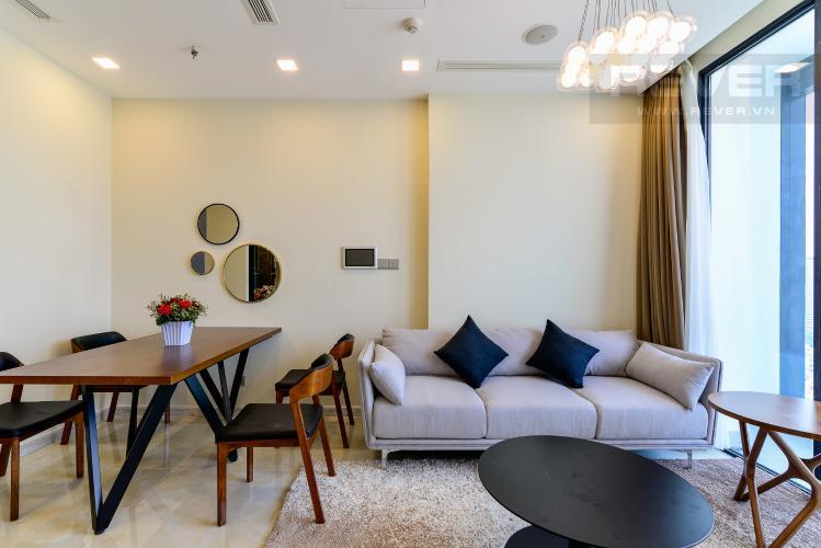Phòng Khách Căn hộ Vinhomes Golden River 2 phòng ngủ tầng cao A4 view sông