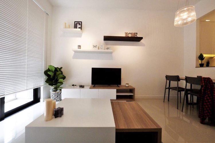 phòng Khách căn hộ Estella Heights Bán căn hộ Estella Heights, phường An Phú, quận 2 diện tích 59.5m2 - 1 phòng ngủ, đầy đủ nội thất, sổ hồng đầy đủ.
